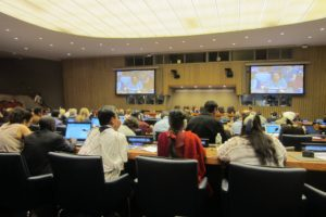 Indigenous groups listen to UNPFII chairwoman speaks