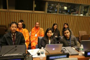 KKF Religious leaders and youths attending UN conference - waiting for their turn to speak on their community's behalf